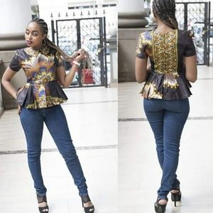 Women African Batik Top